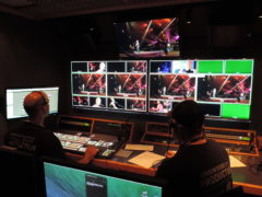Director and TD cut the show on the Ross Carbonite Switcher at KB 2014